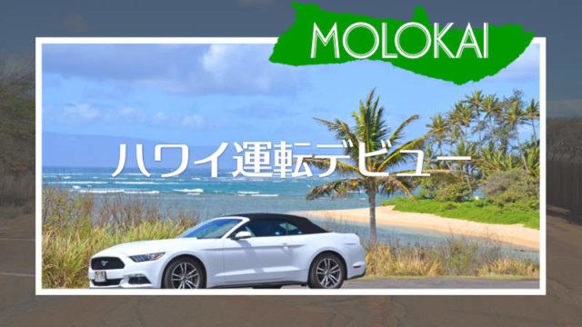 ハワイのモロカイ島は海外運転デビューに最適