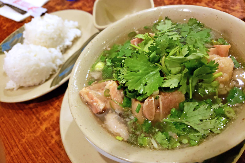 ハワイのオックステールスープ