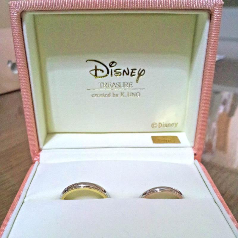 ケイウノでディズニーデザインのオーダーメイド結婚指輪