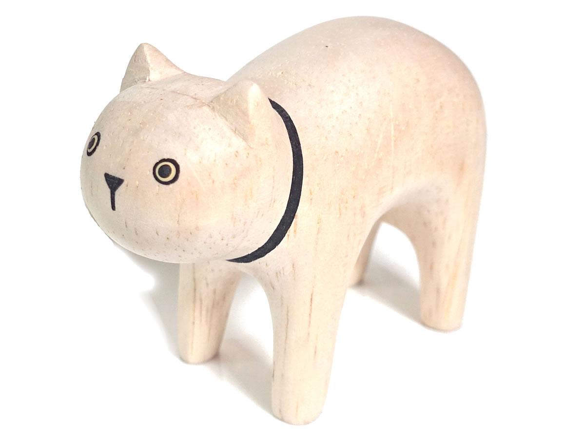 ぽれぽれ動物のインテリア雑貨親子白猫