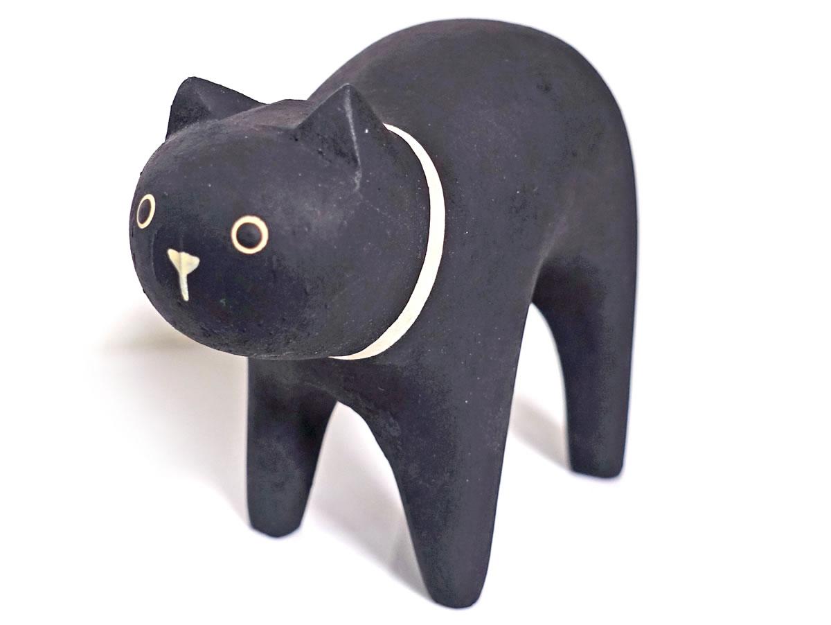 ぽれぽれ動物のインテリア雑貨親子黒猫