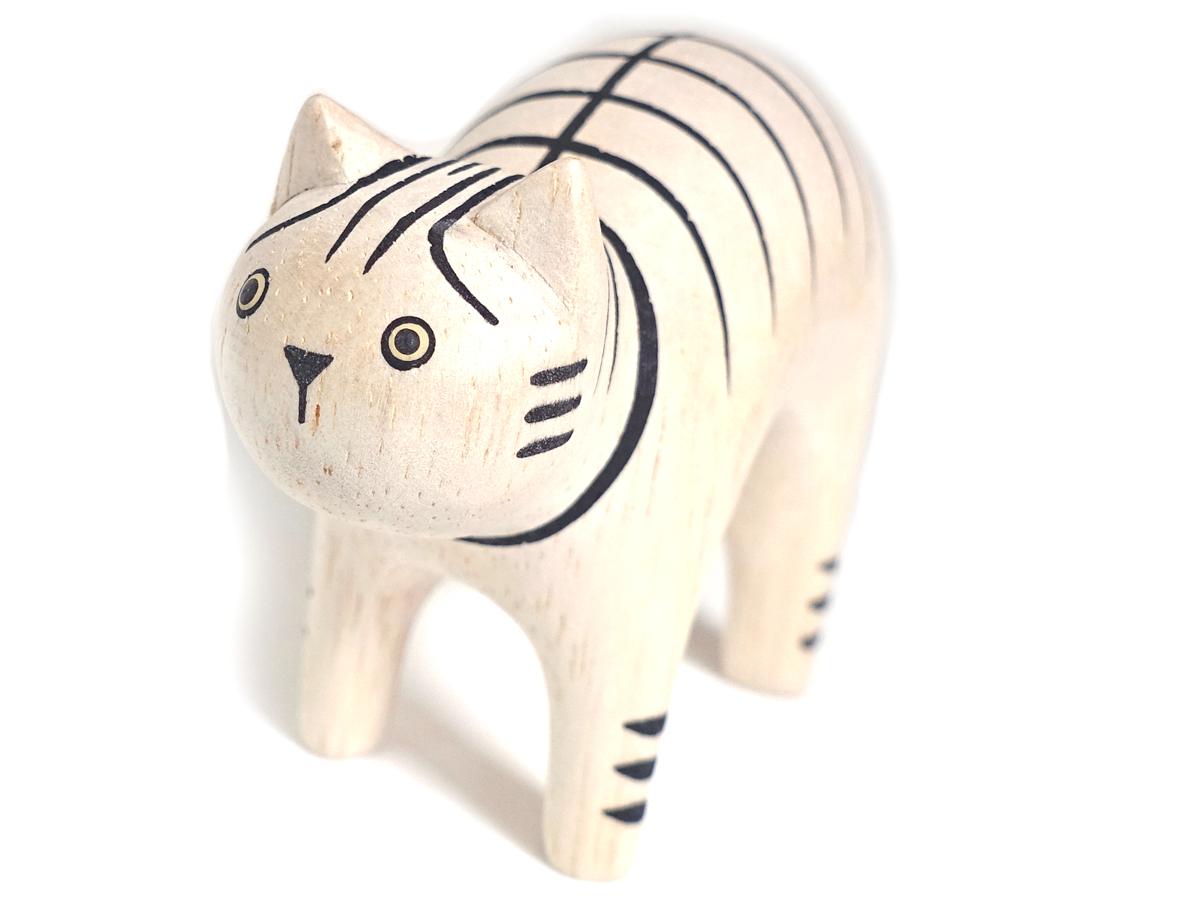 ぽれぽれ動物のインテリア雑貨親子トラ猫